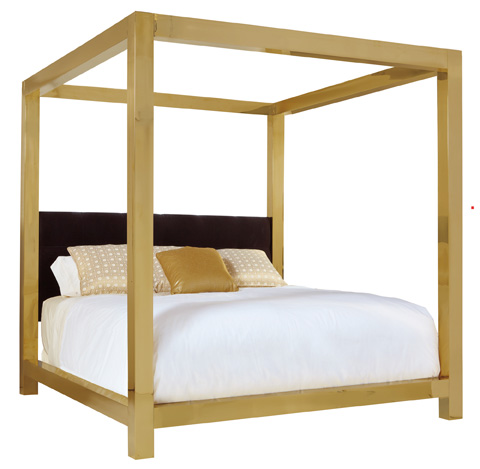 Bernhardt - Kensington Metal Canopy Bed - 353-H59/F59/R59