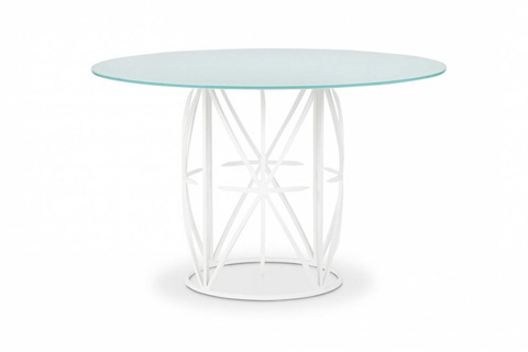 Bolier & Company - Occasionals Glass Top Round Dining Table - 45009