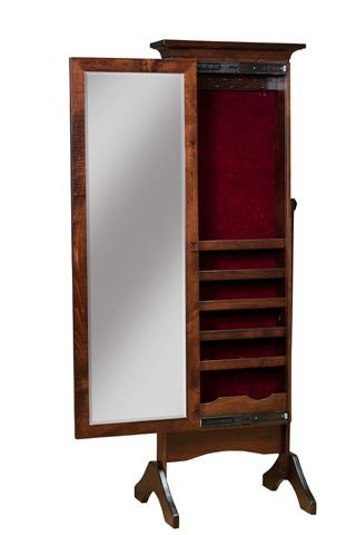 Borkholder Furniture - Cheval Mirror with Sliding Doors - 16-2003XXX