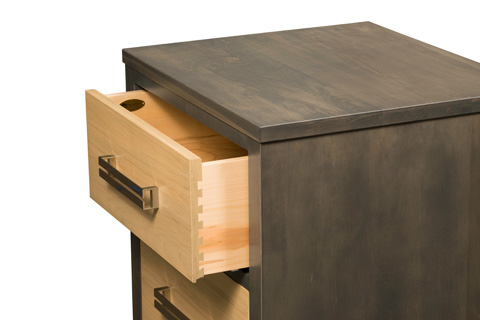 Borkholder Furniture - Embassy Two Drawer Nightstand - 39-1602XXX