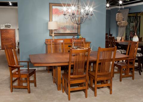 Borkholder Furniture - Bungalow Trestle Dining Table - 13-8001LF2