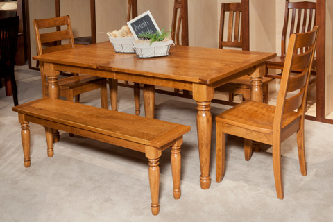 Borkholder Furniture - Farm Solid Top Dining Table - NC-8010STX