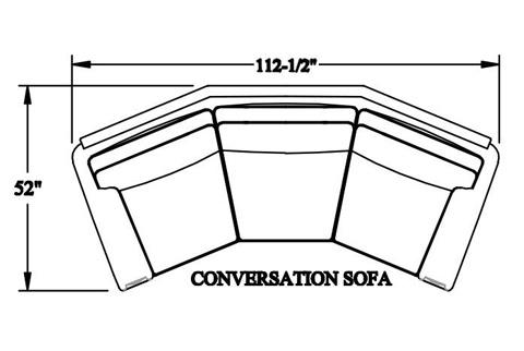 Bradington Young - Hanley Stationary Angled Sofa 8-Way Tie - 223-99
