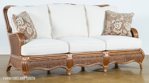 Image of Wicker / Rattan Sofa with Cushions