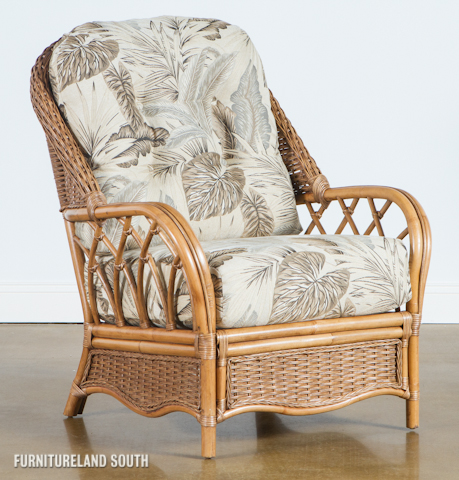 Image of Wicker / Rattan Chair with Cushions