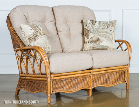 Braxton Culler - Wicker / Rattan Loveseat with Cushions - 905-019