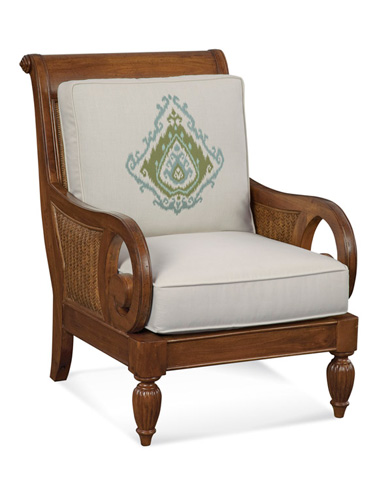 Braxton Culler - Wood and Wicker Chair with Cushions - 934-001