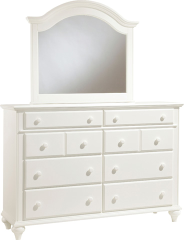 Broyhill Furniture - White Arched Mirror - 4649-237