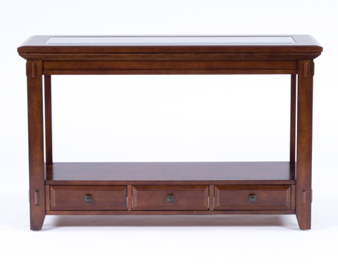 Image of Sofa Table with Base Drawers