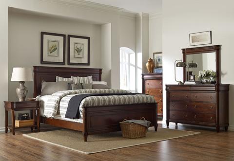 Broyhill Furniture - Aryell Autumn Cherry Landscape Dresser Mirror - 4906-236