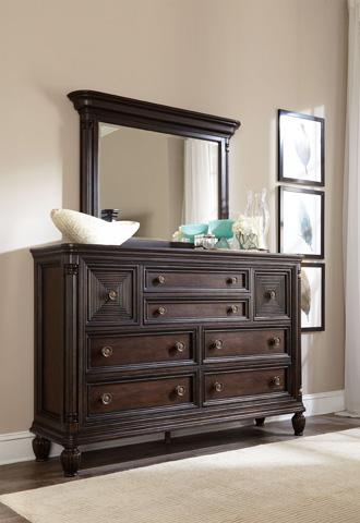 Broyhill Furniture - Jessa Pillar Chesser Mirror - 4980-236
