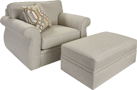 Broyhill Furniture - Veronica Chair and a Half - 6180-0