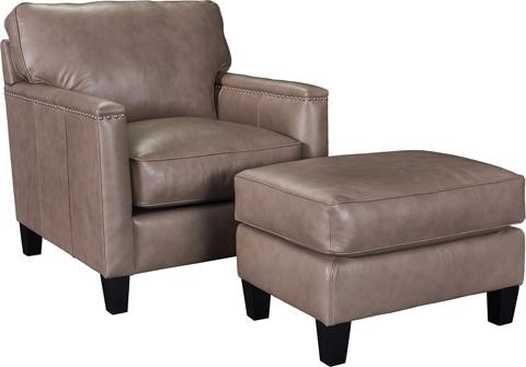 Broyhill Furniture - Windsor Leather Ottoman - L4250-5