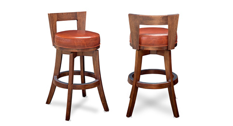 California House - Low Back Swivel Stool - S1035