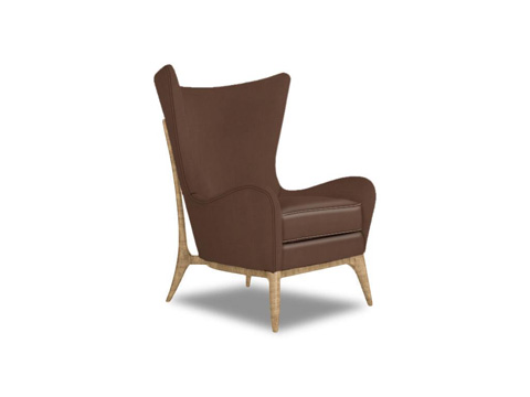 Caracole - What's New Pussycat Leather Chair - UPH-CHALOU-34L