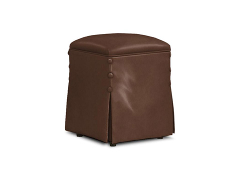 Caracole - Hide and Seek Leather Stool - UPH-OTTSTO-03L