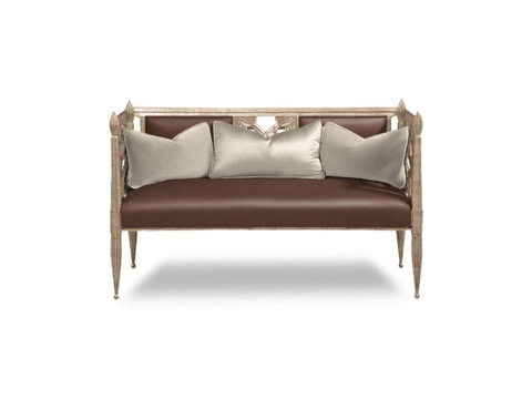 Caracole - Decked Out Leather Settee - UPH-SETTEE-03L