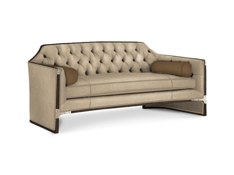 Caracole - The Cat's Meow Leather Sofa - UPH-SOFWOO-23L