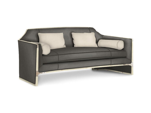 Caracole - Simply Put Leather Sofa - UPH-SOFWOO-37L