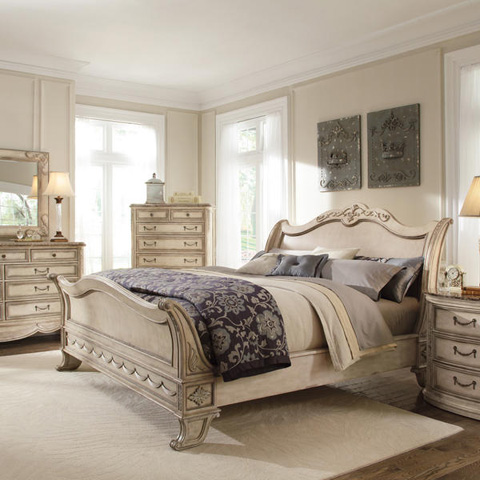 Caracole - Empire II King Sleigh Bed - 3063-351