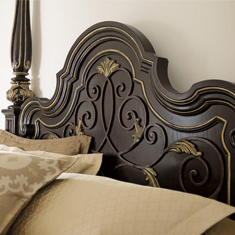 Caracole - Mezzanotte King Poster Bed - B023-350