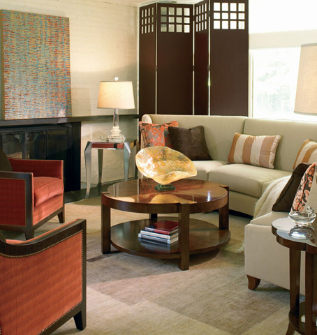 Century Furniture - Round Cocktail Table with Undershelf - 559-608