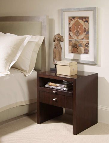 Century Furniture - Bedside Table with Pull-Out Shelf - 849-223