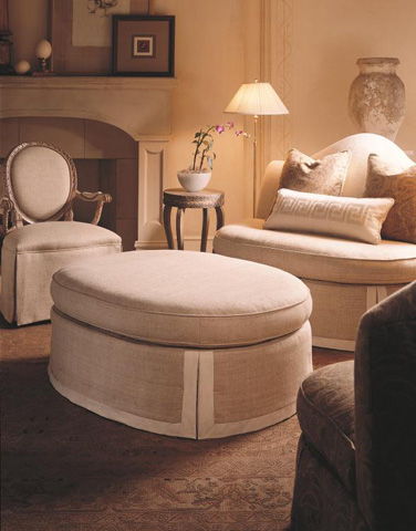 Century Furniture - Eleanor Ottoman - 33-227