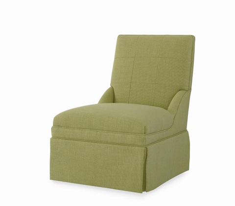 Century Furniture - Claire Skirted Armless Chair - ESN221-11SK