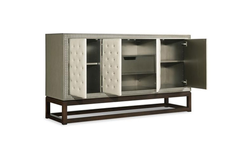 Century Furniture - Credenza with Upholstered Door Fronts - 339-404U