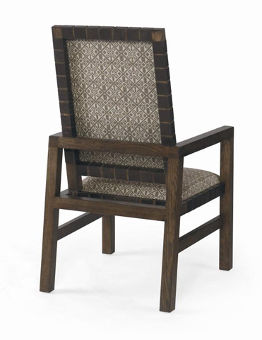 Century Furniture - Sierra Dining Side Chair with Leather Strap Trim - 709-521