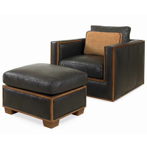 Century Furniture - Bolton Ottoman - LR-38221