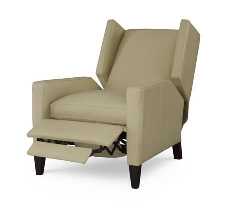 Century Furniture - Leather Recliner - PLR-1678-IVORY