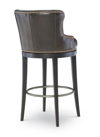 Century Furniture - Leather Swivel Barstool - PLR-3854B-SUMATRA