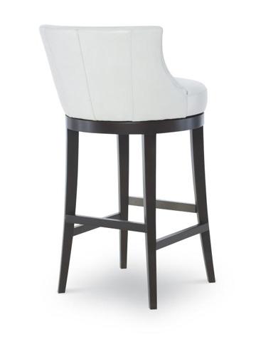 Century Furniture - Leather Swivel Barstool - PLR-3855B-PAPYRUS