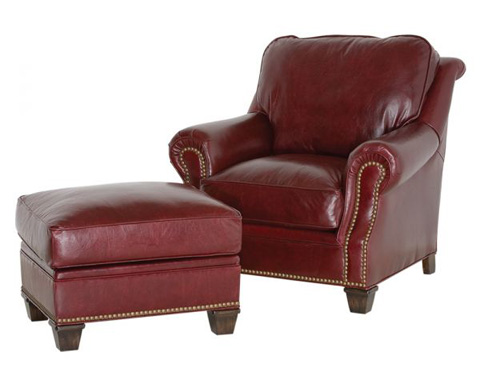 Classic Leather - Portsmouth Chair and Ottoman - 8025/8026