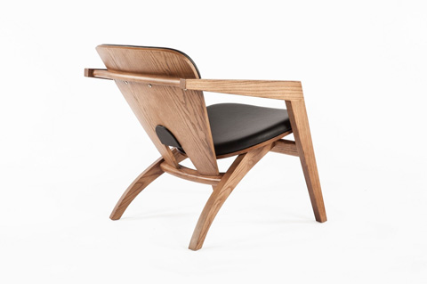 Control Brand - The Olle Lounge Chair - FEC0059BLACK