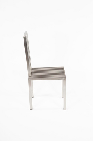 Control Brand - The Brushed Stainless Steel Dining Chair - FHC08SSBRUSH