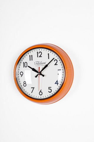 Control Brand - The Cambridge Wall Clock in Orange - G131410ORG