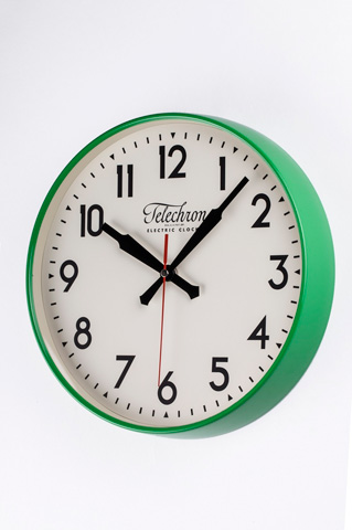 Control Brand - The Corby Wall Clock in Green - G131512GRN