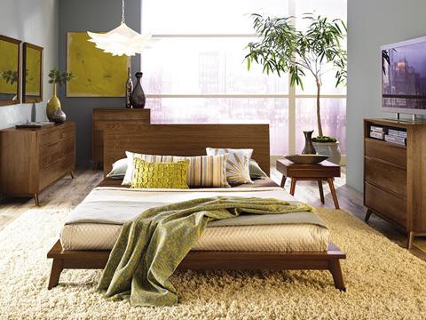 Copeland Furniture - Catalina 3 Drawer Nightstand - Walnut - 2-CAL-30-04