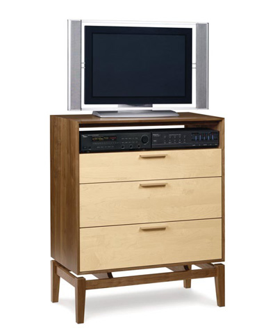Copeland Furniture - Soho 3 Drawer TV Organizer - 2-SOH-35