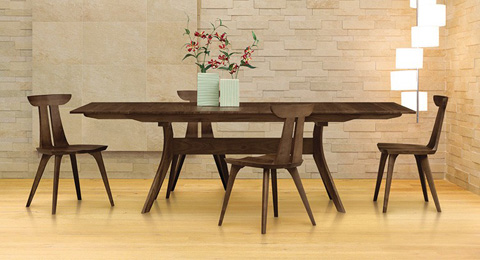 Copeland Furniture - Audrey Extension Table - Walnut - 6-AUD-20-04