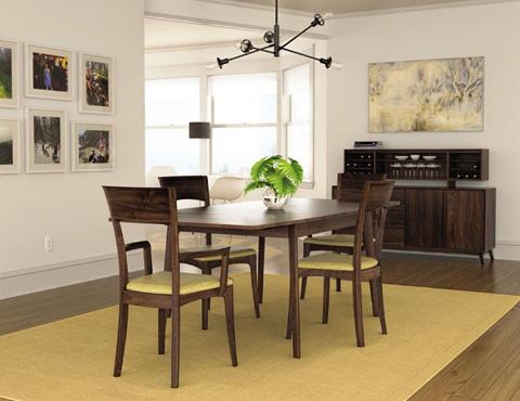 Copeland Furniture - Catalina 4 Door Buffet - Walnut - 6-CAL-40-04
