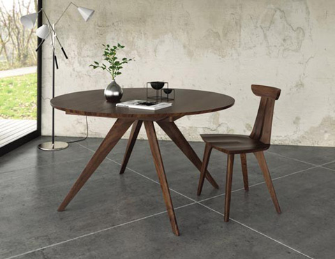 Copeland Furniture - Catalina Round Extension Table - Walnut - 6-CRE-54-04