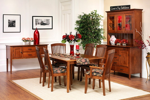 Country View Woodworking, Ltd - Tapered Leg Dining Table - 24-142602