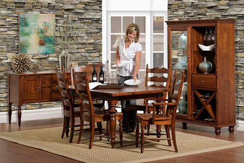 Country View Woodworking, Ltd - Leg Dining Table - 28-142602