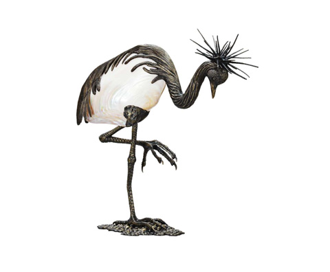 Curate by Artistica Metal Design - West African Crown Crane - AC13-004