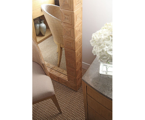 Curate by Artistica Metal Design - Split Cane Floor Mirror - C101-597