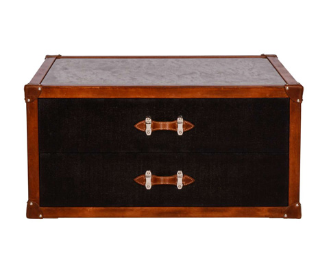 Curate by Artistica Metal Design - Canvas Trunk Cocktail Table - C401-250